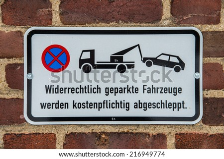 no-parking zone - stock photo