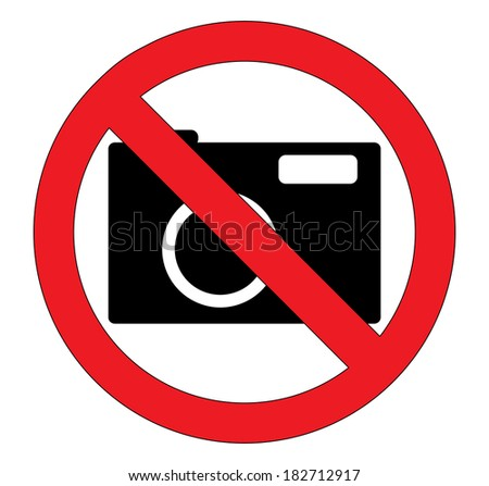 No photography sign, creative illustration.