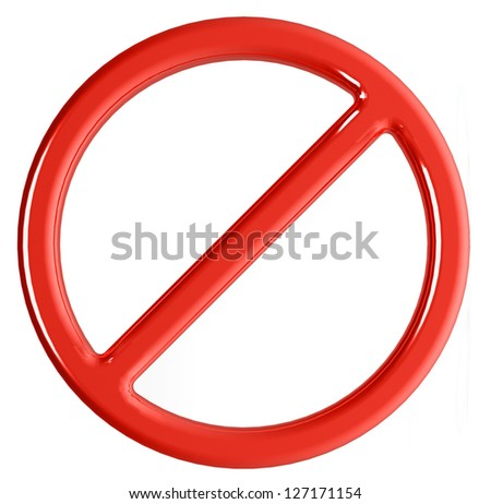 no sign - stock photo