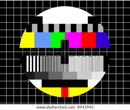 No signal - Television test screen - stock photo