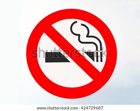 no smocking/warning sign