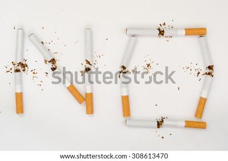 No smoking concept background - stock photo