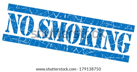 No smoking grunge blue stamp - stock photo