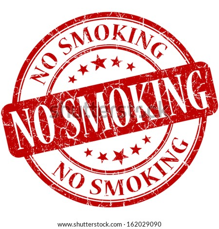 No smoking grunge red round stamp - stock photo