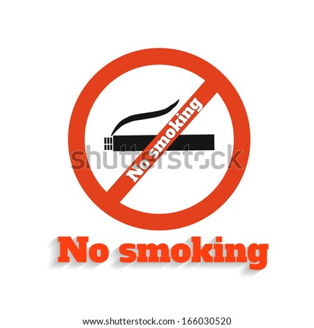 No Smoking Icon on White Background. Rasterized copy - stock photo