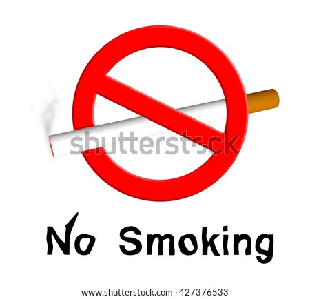 No Smoking on isolated with clipping Path 3D Rendering