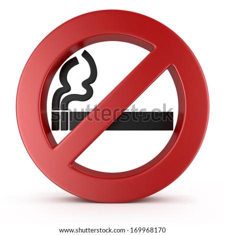 No Smoking Sign. 3d - stock photo