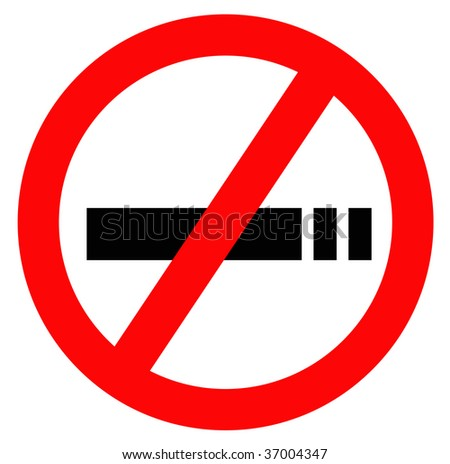no smoking sign in red with white background and black silhouette