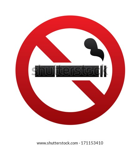 No smoking sign. No smoke icon. Stop smoking symbol.  illustration. Filter-tipped cigarette. Icon for public places. - stock photo