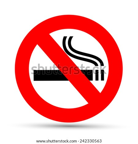 No smoking sign on a white background