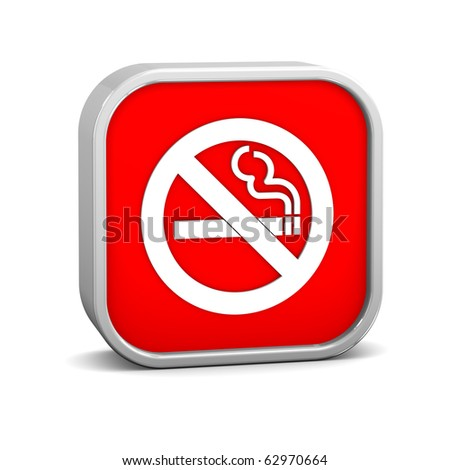 No smoking sign on a white background. Part of a series. - stock photo