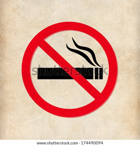 No smoking sign on beige background