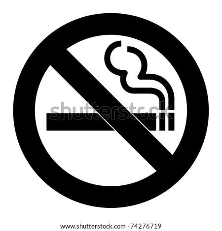 No Smoking Sign Symbol Isolated On Stock Illustration 74276719
