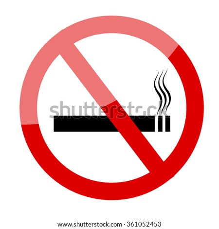 No smoking sign. Smoking prohibited symbol isolated on white background illustration image