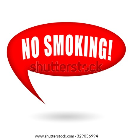 No smoking speech bubble - stock photo