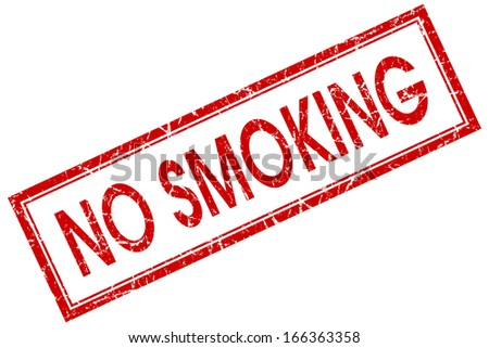 no smoking square red grunge stamp - stock photo