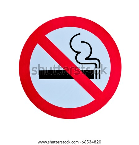 no smoking warning sign isolated on white background