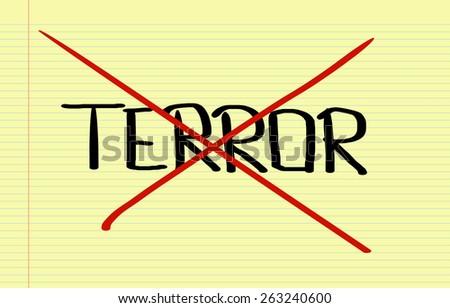 No Terror Concept - stock photo
