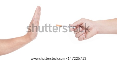 No thanks! Quit smoking concept