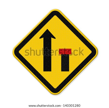 no through road sign,way closed right - stock photo