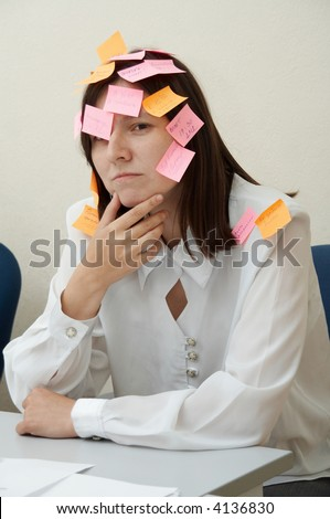 No time to relax. Business woman in intensive life. - stock photo