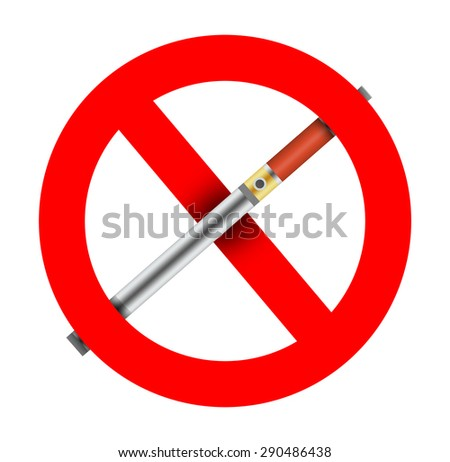 No use or ban of electronic cigarettes. - stock photo