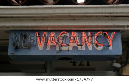 No vacancy sign - stock photo