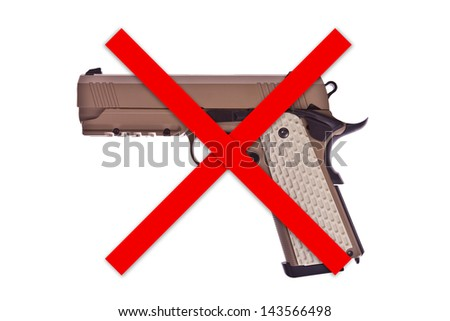 No weapon allowed - stock photo