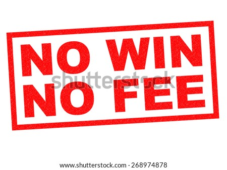 NO WIN NO FEE red Rubber Stamp over a white background. - stock photo
