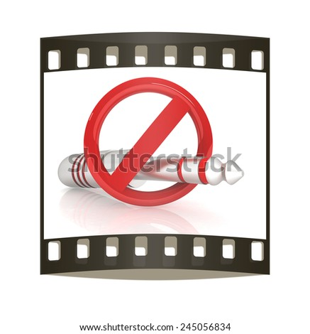 No wired connection on a white background. The film strip - stock photo