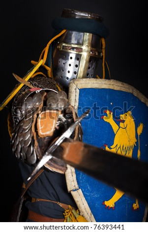 noble knight is going to kill - stock photo