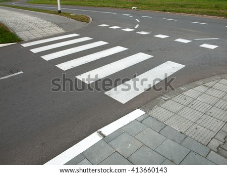 Nobody on Crosswalk