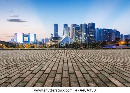 Nobody's Square and the beautiful Cityscape in Hangzhou