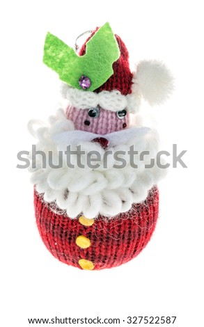 noel ornament santa claus isolated on white