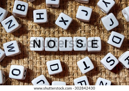 noise word on white blocks concept - stock photo