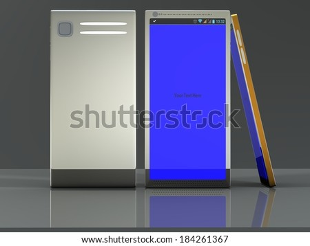 Non-branded generic concept smart phone