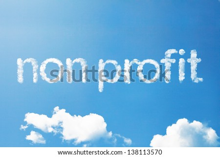 non profit a cloud massage in the sky - stock photo