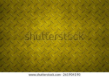 Non-slip metal floor sheet with golden - stock photo