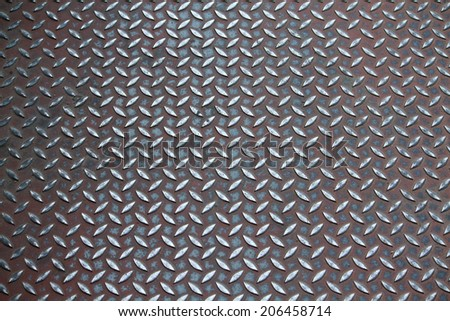 Non-slip steel grating of the overpass - stock photo