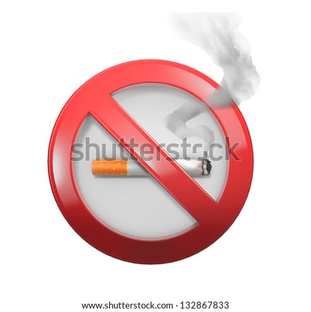 Non smoking red sign
