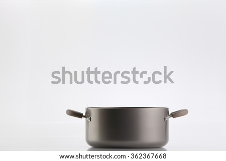 non stick cooking pot on the white background