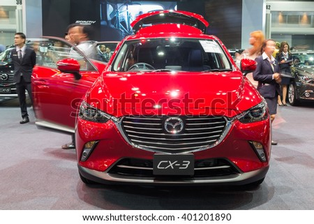 NONTABURI, THAILAND - 23 MAR : All new Mazda CX-3 showed in Thailand the 37th Bangkok International Motor Show on 23 March 2016