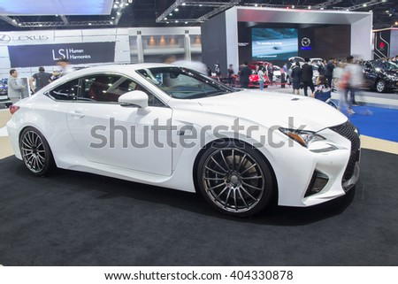 NONTABURI, THAILAND - 23 MAR :Lexus RC F showed in Thailand the 37th Bangkok International Motor Show on 23 March 2016