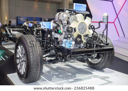NONTHABURI - DECEMBER 4 :High Performance Engine on display at MOTOR EXPO 2014 on Dec 4,2014 in Nonthaburi, Thailand.