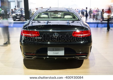 NONTHABURI - MARCH 23:NEW Mercedes Benz Gls S500 Coupe AMG on display at The 37th Bangkok International Motor show on MARCH 23, 2016 in Nonthaburi, Thailand. - stock photo