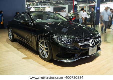 NONTHABURI - MARCH 23:NEW Mercedes Benz S500 Coupe AMG on display at The 37th Bangkok International Motor show on MARCH 23, 2016 in Nonthaburi, Thailand. - stock photo