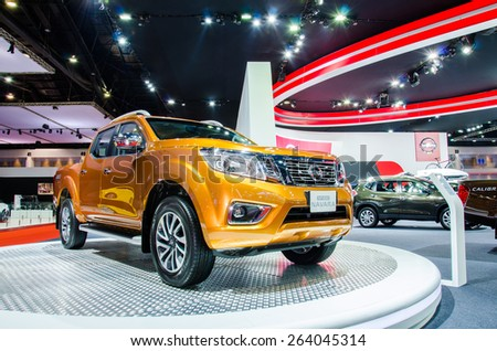 NONTHABURI - MARCH 24: Nissan Navara NP300 on display at Thailand 36th Bangkok International Motor Show 2015 on March 24, 2015 in Nonthaburi, Thailand.