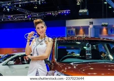 NONTHABURI - NOVEMBER 28:  Honda car with Unidentified model on display at Thailand International Motor Expo 2014 on November 28, 2014 in Nonthaburi, Thailand. - stock photo