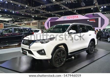 NONTHABURI   NOVEMBER 30: Toyota Fortuner TRD Sportivo Car On Display At  Thailand International Motor