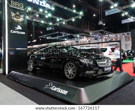 NONTHABURI, THAILAND - DECEMBER 6: The Carlsson (BRG) on display at the 30th Thailand International Motor Expo 2013 on December 6, 2013 in Nonthaburi, Thailand.